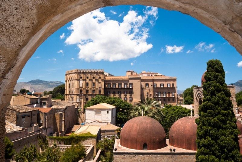 Normanský palác Palermo, sicílie