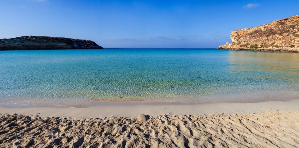 Spiaggia dei Conigli (Rabbit Beach), Itálie