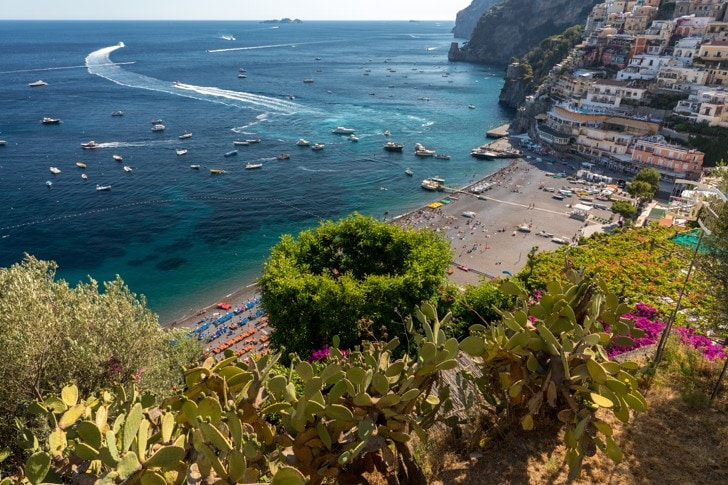 spiaggia grande positano, Itálie