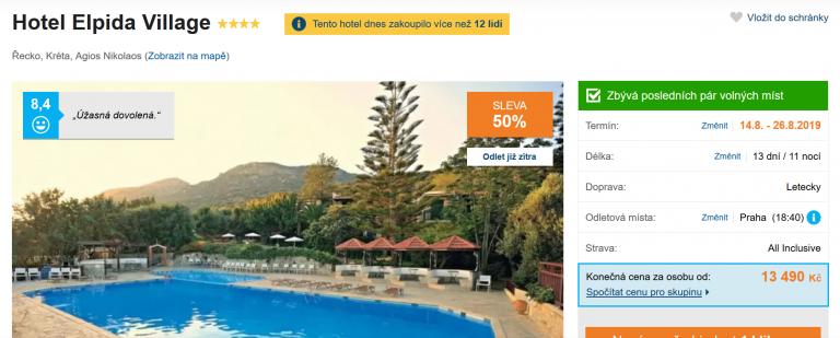 Zájezd Kréta (hotel Elpida Village)