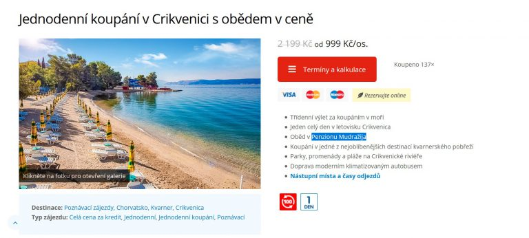 zájezd chorvatsko české kormidlo